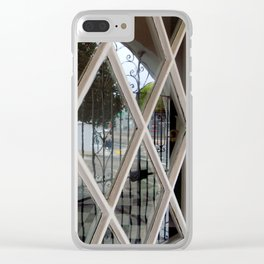 Checkerboard Sidewalk Clear iPhone Case
