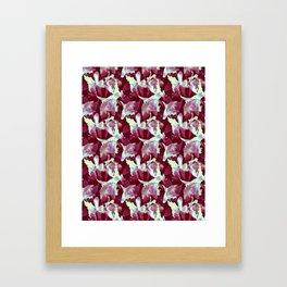 Crimson Orchid Framed Art Print