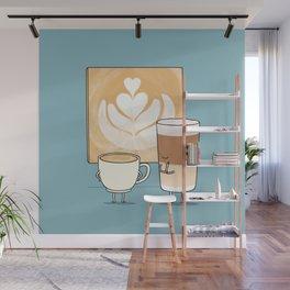 Latte art Wall Mural