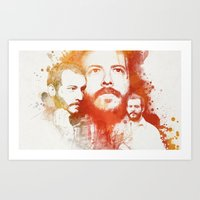 bon iver Art Prints featuring Blindsided by Your Music Design