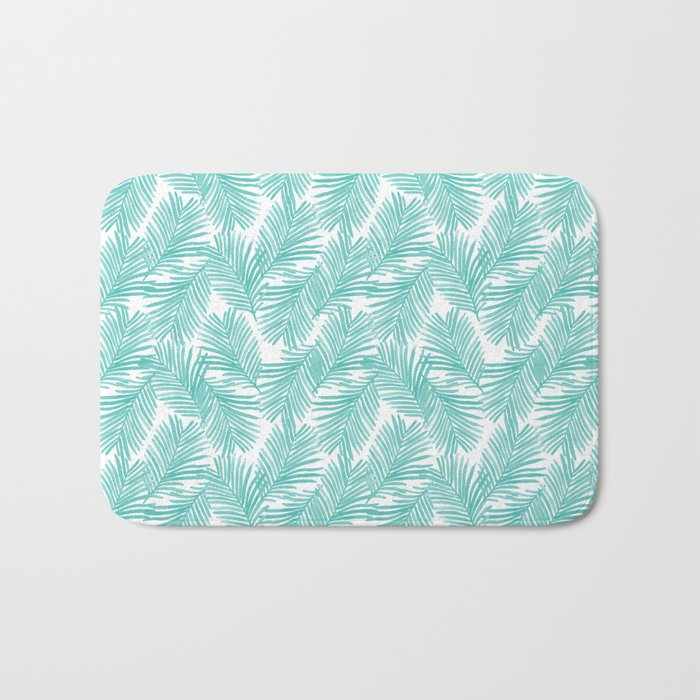 Palm tropical indoor house plants nature botanical vacation island summer surfing beach hipster Bath Mat