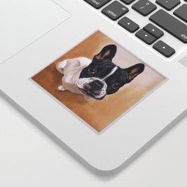 French Bulldog Gouache Artwork Sticker
