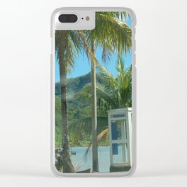 tahitian phone booth Clear iPhone Case