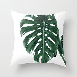 Monstera Delight #4 #tropical #decor #art #society6 Throw Pillow