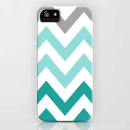 TEAL FADE CHEVRON iPhone Case