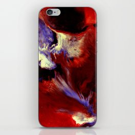Abstract, Red, White, Violet, Black (CA17036C) iPhone Skin