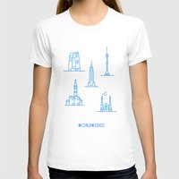 cities T-shirts featuring Cities Worldwide by Sergii Rodionov