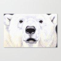 polar bear Canvas Prints featuring Polar Bear by StudioBlueRoom