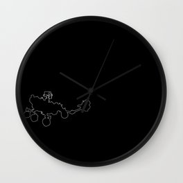 Perseverance Rover (Void Black) Wall Clock