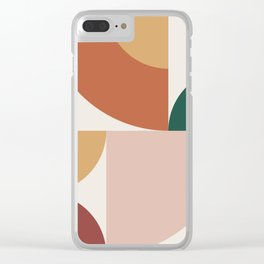 Abstract Geometric 13 Clear iPhone Case
