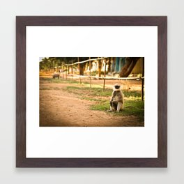 Sitting, waiting Framed Art Print