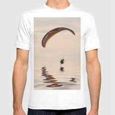 Powered paraglider White Mens Fitted Tee MEDIUM
