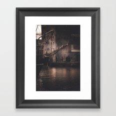 Working Dock Framed Art Print