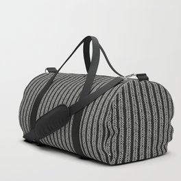Mud cloth - Black and White Arrowheads Duffle Bag