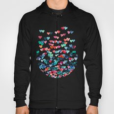 Heart Connections - watercolor painting Hoody