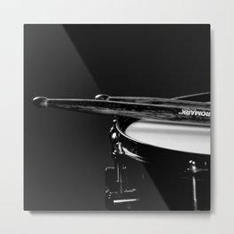 snare drum music aesthetic close up elegant mood art photography  Metal Print
