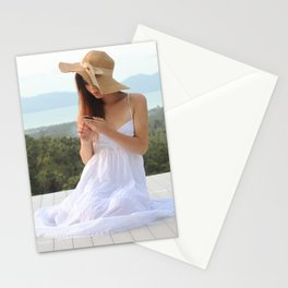 Beautiful Ladyboy Tang in Summer Dress Stationery Cards