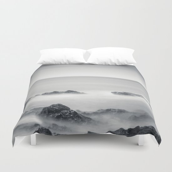 Silver sea Duvet Cover