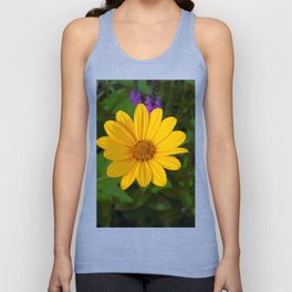 Prairie gold with lavender-violet companions 7489 Unisex Tank Top