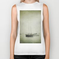boats Biker Tanks featuring Two boats by Victoria Herrera