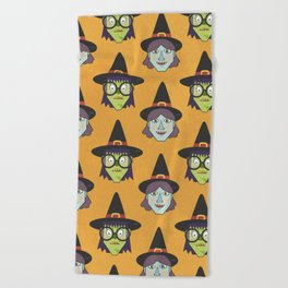 Good Witch VS Bad Witch (Patterns Please) Beach Towel