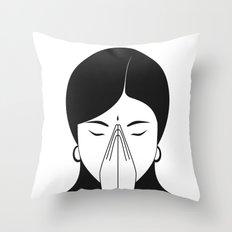 Modern woman Throw Pillow