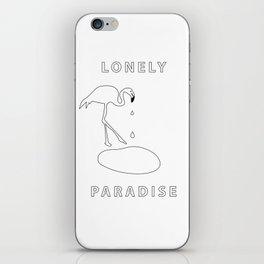 flamingo lonely paradise iPhone Skin