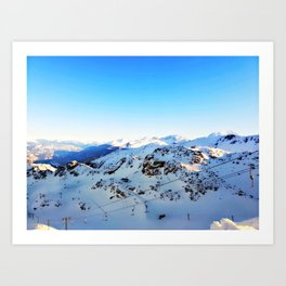 Shades of blue at the mountains Art Print