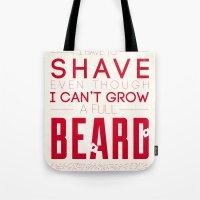 beard Tote Bags featuring Beard by PaulWorm