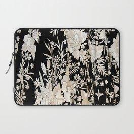 Black and White Flowers by Lika Ramati Laptop Sleeve