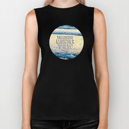 The Lord is Mightier than the Seas Biker Tank