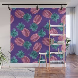 Colorful pineapples Wall Mural