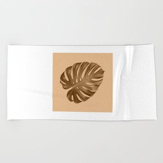 Silent leaf Beach Towel