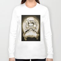 tesla Long Sleeve T-shirts featuring Nikola Tesla by Kitchimama