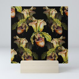 Paphiopedilum Orchids, Lady's Slipper Watercolor Mini Art Print