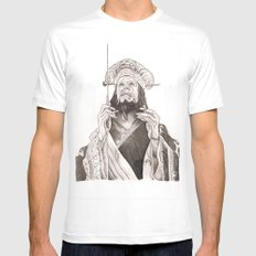 Lo Pan LARGE White Mens Fitted Tee