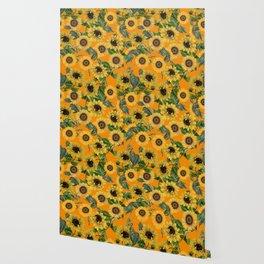 Vintage & Shabby Chic - Sunflowers Flower Garden Wallpaper