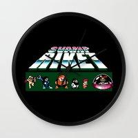 megaman Wall Clocks featuring MegaMan Style by Svampriket