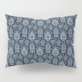 Cuckoo Clocks on Blue Pillow Sham