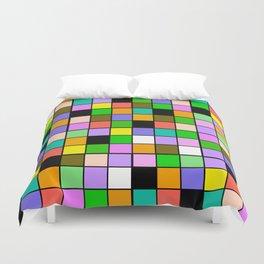 Checker Board Square Pattern Duvet Cover