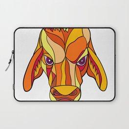 Brahma Bull Head Mosaic Color Laptop Sleeve