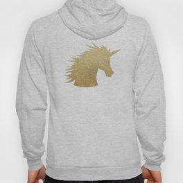 Gold Glitter Unicorn Hoody