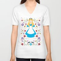 alice V-neck T-shirts featuring Alice by Carly Watts