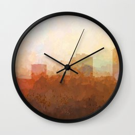 New Orleans, Louisiana Skyline - In the Clouds Wall Clock