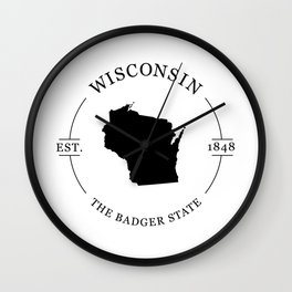 Wisconsin - The Badger State Wall Clock