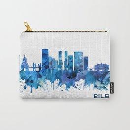Bilbao Spain Skyline Blue Carry-All Pouch