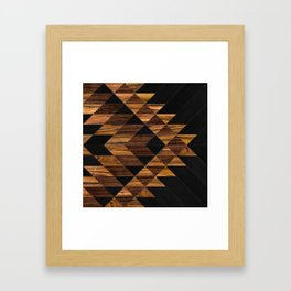 Urban Tribal Pattern 11 - Aztec - Wood Framed Art Print