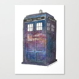 Doctor Who Galaxy Tardis Canvas Print