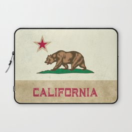 Vintage California Flag Laptop Sleeve