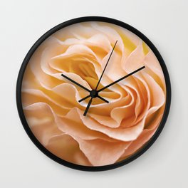 Frosting Apricot Begonia Wall Clock